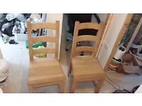 Two Solid Oak Chairs £60 ono