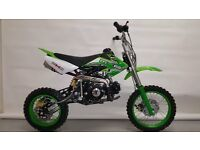 New 125cc Dirt Bike 2017 MXB Model, Great Fun Great Value