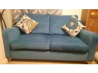 Two seater sofa and arm chair £130