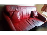RED LEATHER SOFA FREE