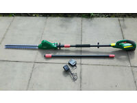 Qualcast Extendable Cordless Pole Hedge Trimmer - Only used twice