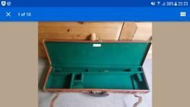 brady pigskin leather gun case
