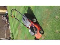petrol rotary lawn mower, Emak with Briggs & Stratton engine, runs fine needs new belt