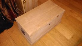 Solid Pine Chest / Trunk - Antique Pine
