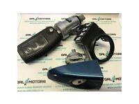 FORD GALAXY MK3 S-MAX 06-10 KEY DOOR LOCK IGNITION LOCK IN AMBITION BLUE BK56