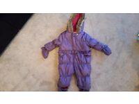 Baby Girls Purple Snowsuit