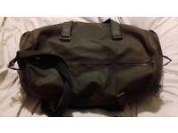 Men's Duffle Camel Leather Bag.
