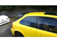 CIVIC EK9 TYPE R CTR OEM STYLE FULL CARBON SPOILER AND BASE PLATE FOR SALE