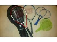 Tennis, cricket, hockey, kite, etc