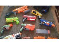 HUGE BUNDLE NERF GUNS,DARTS,VEST & TARGET -HAVOC FIRE EBF-25, MODULUS, HAIL FIRE