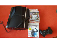 PS3 1x CONTROLLER + GAMES LIKE GTA V AND MODERN WAREFARE 2 STILL FOR SALE