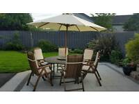 Garden Solid teak 6 seater table and chairs