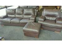 Leather sofa 3&1 ( free delivery)