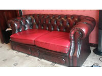 2 x 2.5 seater Leather Chesterfields