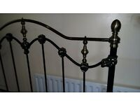 Genuine Brass and metal double bed. in perfect condition. Delivery can be arranged.