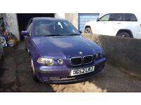 2002 (52) 1.8 BMW 316 Compact