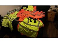 Job lot of hi vis workwear