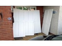 4 painted pine panel doors, secondhand in good condition