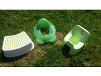 Toilet training set: potty, step and training seat