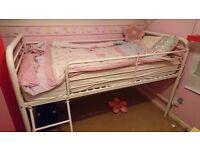 Next White/ Pink Midi Cabin Bed