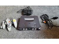 N64 Nintendo 64 console, Retro, controllers, 4 games
