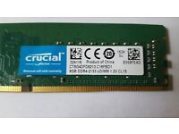 Crucial 8gb DDR4-2133 UDIMM,1.2V CL15,only used for a couple of days while awaiting another delivery