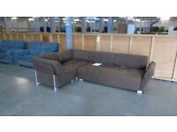 PRE OWNED Corner Sofa in Brown Fabric