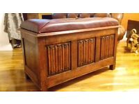 Wooden antique chest