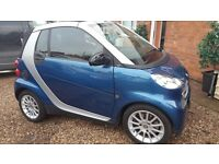2009 SMART FORTWO PASSION MHD AUTO SILVER CONVERTiBLE stop start no offers