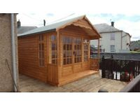 20MM THICK LOG SUMMER HOUSES FROM £1200