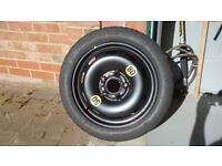 Space saver spare wheel for Mini