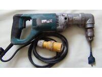 Makita drill with right angle attachment 110v