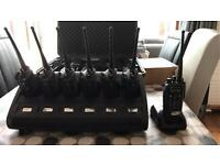 8 x Motorola DP3600 Digital 2/Way Radios & 6 Block IMPRES Charger