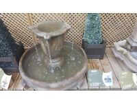 Overflowing Vase Fountain water feature by Henri