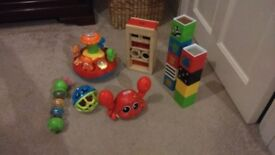 Collection of baby's toys