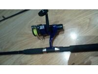 Shakespeare targa spinning rod with steadfast dominator 400
