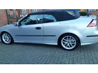 Saab convertible service history long mot cheap on fuel tax tidy electric cd aloy £1120