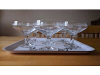 ikea champagne glasses six glass set with matching tray