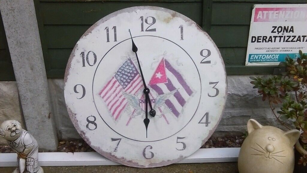 Usa Themed Large 24 Dia Wall Clock Made Of Thick Cardboard