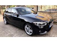 2015 65 BMW 1 SERIES 1.5 116D M SPORT 5 DOOR HATCHBACK IN STUNNING BLACK