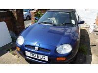 MGF soft top classic sports car