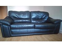 Large 2 seat leather sofa (sits 3 people)