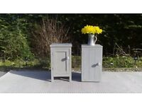 Pair of Lovely Bedside Tables, Shabby Chic, Paris Grey