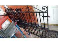 Cast iron antiuqe driveway gates x2