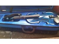 Blue childs violin 24 inch long