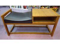 Retro seated telephone table