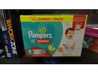 pampers nappy pants size 4