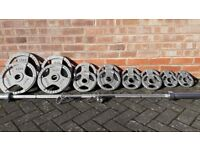 BODY POWER OLYMPIC WEIGHTS SET WITH 7FT BAR