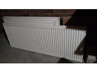 Set of five used radiators for sale. Good qulaity and good condition + TSV and brackets