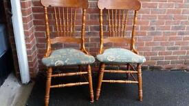 X2 large back wooden chairs